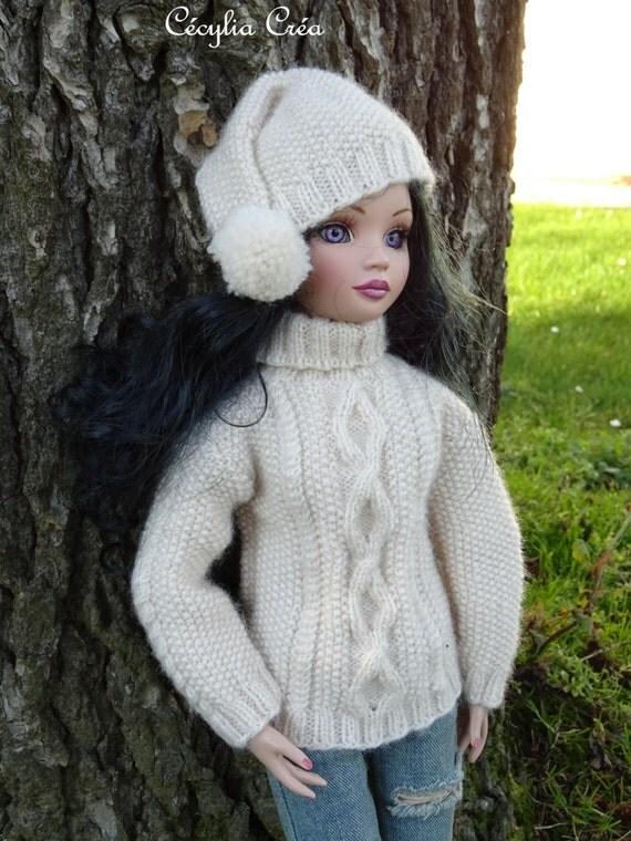 6. French and english knitting pattern PDF - Irish sweater and hat for Ellowy...