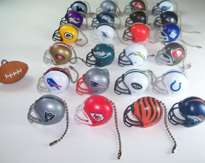 NFL® Helmet & Football Ceiling Fan Pulls, Practical Gift, Gift for Him, Gift for Men, Coaches Gift, Man Cave Decor, Football Decor