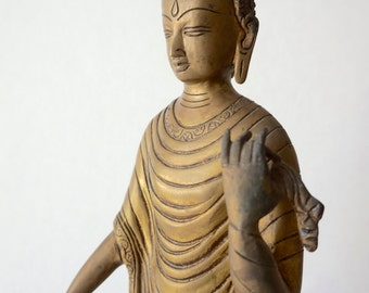 Standing Buddha / Solid Brass / India Style / Shipping Included in the U.S.