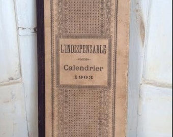 French soldier's journal - calendar from 1903