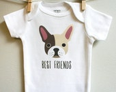 French Bulldog baby clothes, french...