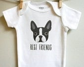Baby clothes, boston terrier baby clothes, boston terrier baby, baby boy or baby girl sizes 3 - 18 months