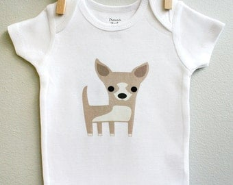 Chihuahua baby bodysuit. Long or short sleeve. Your choice of size.