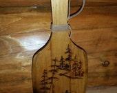 Woodburned Paddle