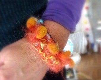 orange fiber bracelet