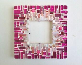 Pink Mosaic Frame