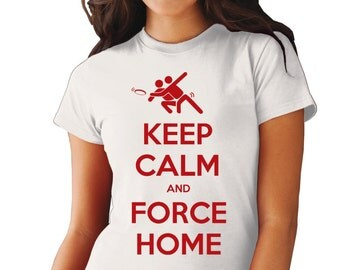 Keep Calm and Force Home Ultimate Frisbee Woman's t-shirt