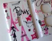 Light Switch Plate Cover / Paris Single Light Switchplate / Paris Bedroom Decor / Paris Nursery Decor/ Pink Paris Decor / Paris Bathroom