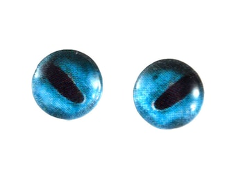 Glass Eyes Online - 10mm - Glass Eyes - Blue Octopus