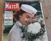 Mid Century Magazine, French Paris Match, 1956 50s poster, historical journal, vintage advertisements, celebrity, retro articles