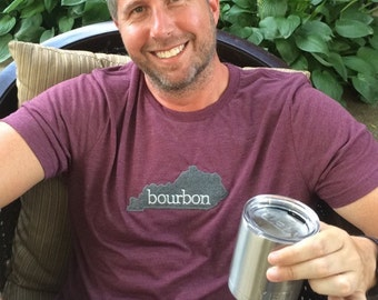Kentucky Bourbon Vintage Style Unisex Loose Fit Tri-Blend T-Shirt