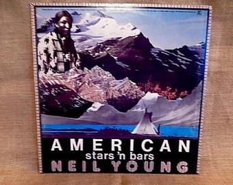 Neil Young - American Stars'n Bars - 1977 Vintage Vinyl Record Album