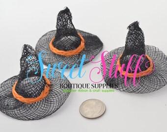 """Mini Sinamay Witch Hat 3"""" Base Qty 3"""