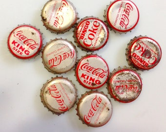 10 used Vintage Coca-Cola Soda Pop Bottle Caps scrapbook