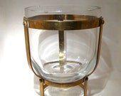 Brass Framed Wine Bucket
