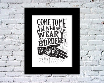 Who Are Weary and Burdened Print