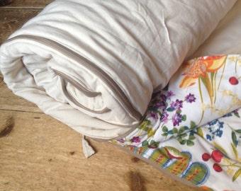 The Original Florabunda handmade sleeping bag, cotton, adult ex wide - custom made