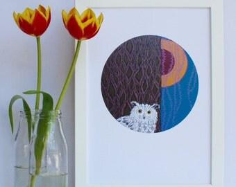 Owl Circular Print