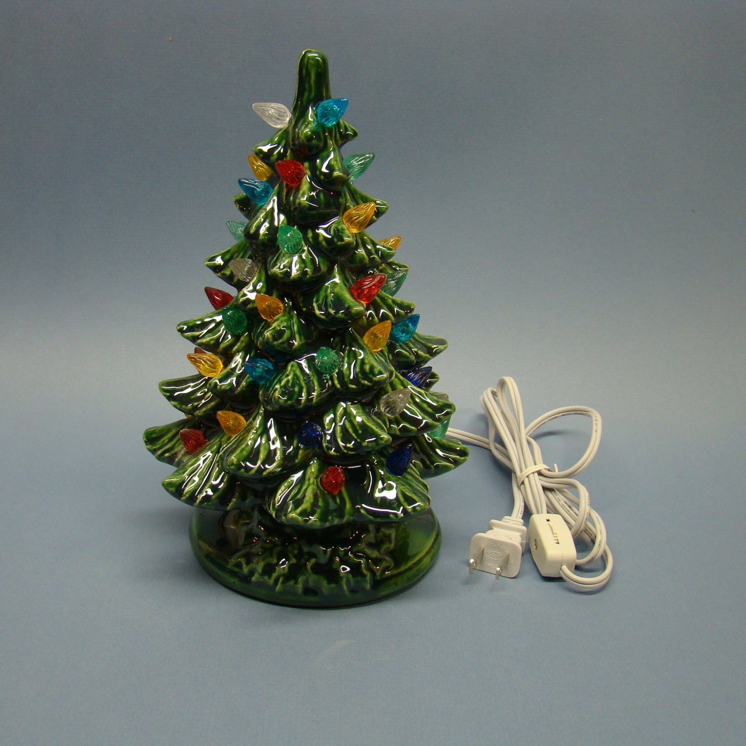10 Christmas Tree With Electric Light Green Color Made