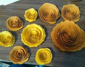 Beautiful rolled roses in Orange and yellow, handmade, custom order for Jaimeland
