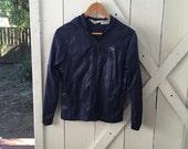 Super cute vintage IZOD lacoste navy blue nylon rainjacket jacket s