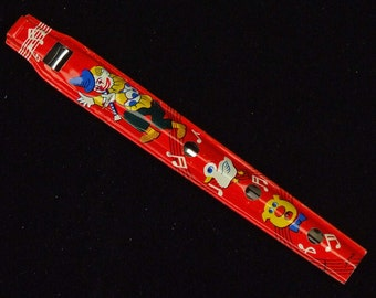 Vintage Penny Whistle Pennywhistle Made in Japan Beautiful and Colorful Graphics