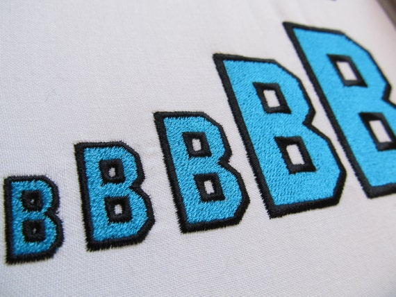 Varsity collegiate type font machine embroidery