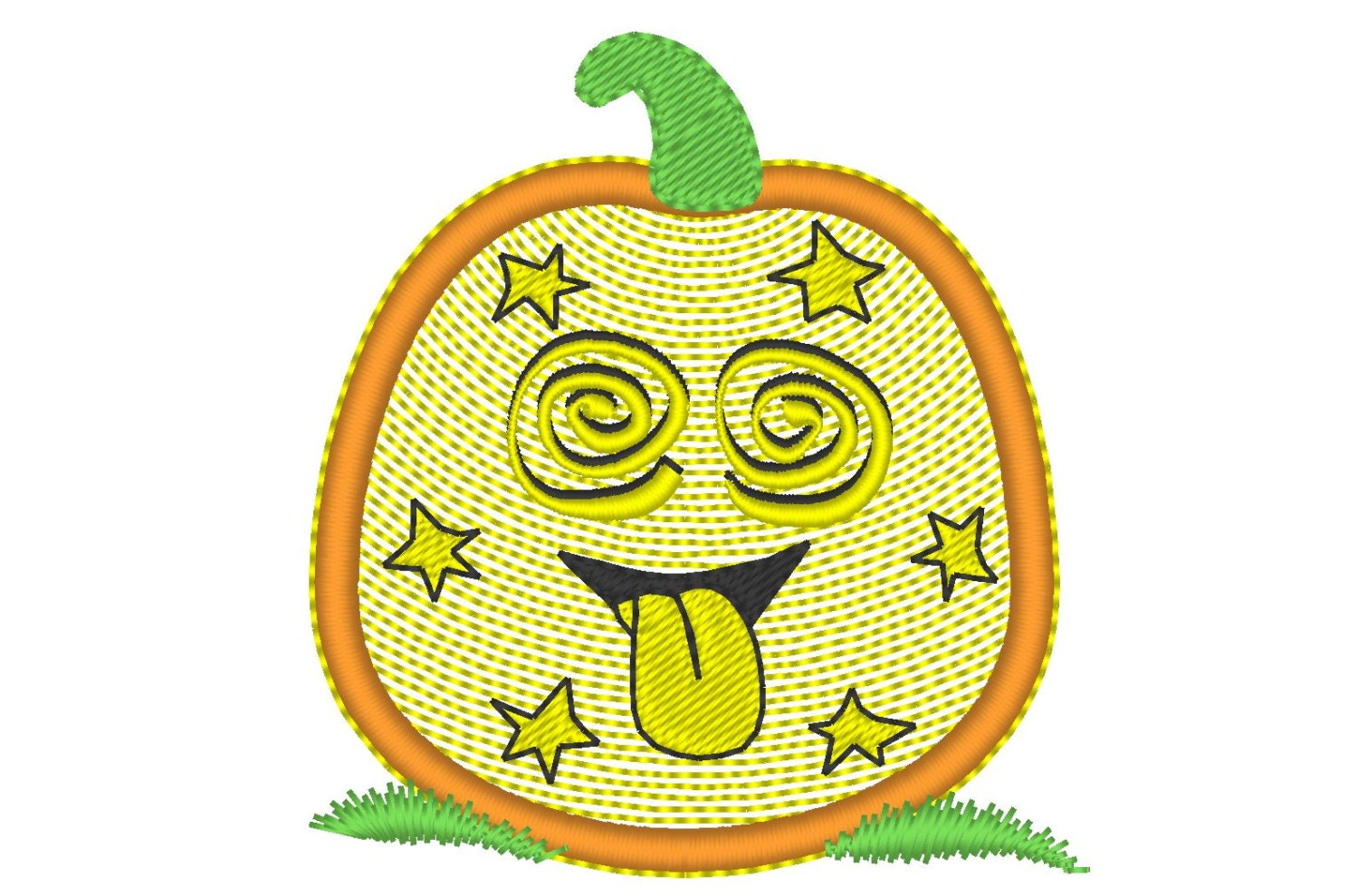 Funny pumpkin embroidery applique designs use this