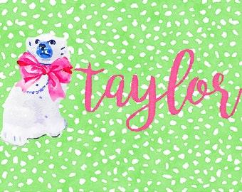 Flamingo, Ginger Jar or Staffordshire Christmas Calling Cards
