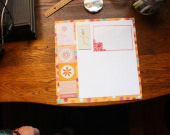 Pre-Made Scrapbook Page