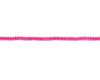 Crystal Magenta Rondelle Bead  3x4mm - 1 Strand Wholesale price (9134)/1