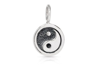 Sterling Silver Yin Yang Charm  - 1pc 10% discounted High Quality Shiny Charms (5914)/1