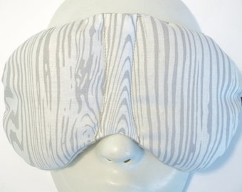 Herbal Hot/Cold Therapy Sleep Mask with adjustable and removable strap Wood Grain