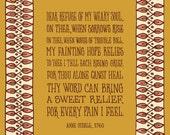 Dear Refuge of My Weary Soul l Art Print
