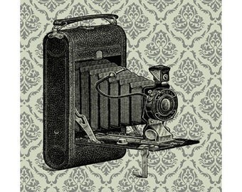 Handmade Vintage Style Antique Camera Print Set from Curious London