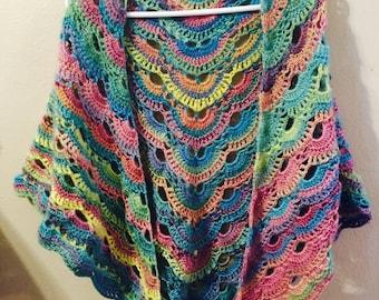 Crochet Virus Blanket : Crochet virus shawl