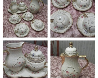 Rosenthal Sanssouci Coffee/Tea Set; 14 pc set; Hand Painted From Selb Germany  circa 1945-1949