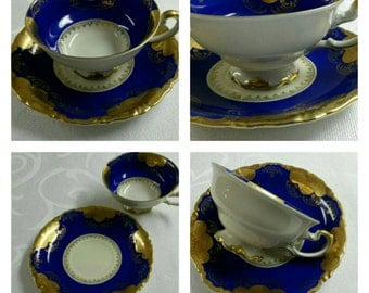Footed Alka Kunst of Western Germany US Zone cup & saucer circa 1941-1945-   969