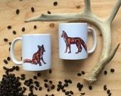 ONLY 3 LEFT! Red Fox Mug Ceramic Mug Animal Coffee Cup Animal Mug Fox cup Fox Coffee Cup Foxes Fox Gift Woodland Housewares for fox sake