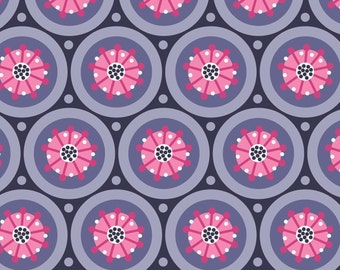 Paradise By Camelot Fabrics Medallion In Dark Purple Half Yard