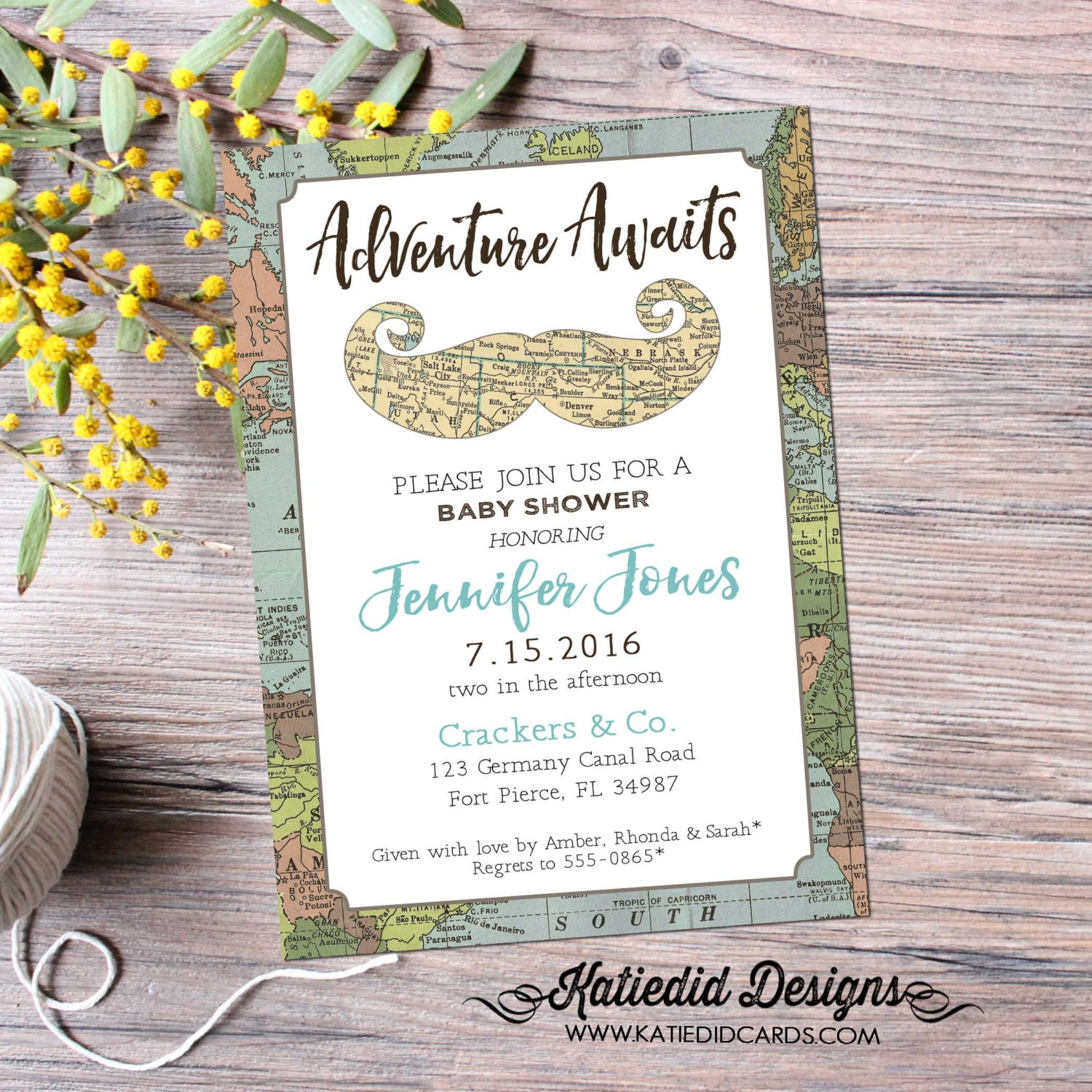Adventure Awaits Baby Shower Invitation Mustache Bash Gentleman - Birthday invitation in germany