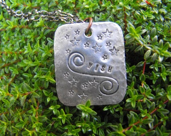 Wish Stamped Necklace