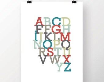 Alphabet Print for Digital Download Modern Design for Home or Nursery