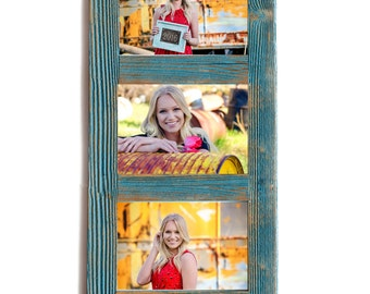 3 hole 5x7 Collage Frame-Rustic Picture Frame-Home Decor Frames-Reclaimed-Cottage Chic-Collage Frame-Picture Frames