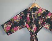 READY to SHIP SMALL Kimono Robe. Kimono. Dressing Gown. Robe. Wish Patience Love.