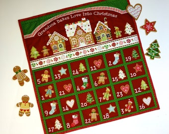 Advent Calendar - Quilted Wall Hanging - Christmas Countdown Heirloom Keepsake - Children Activity Panel - Holiday Decor - Christmas Quilt