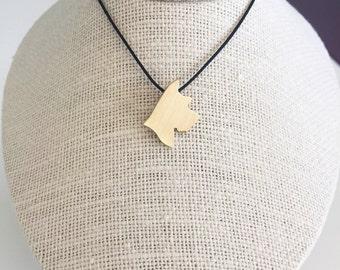 Schnauzer necklace, Schnauzer charm, Schnauzer jewelry, Boston Terrier silhouette, Brass dog necklace, pet memorial gift