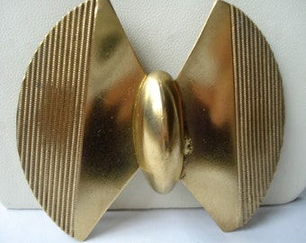 Art Deco Buckle Gold Tone Metal Large 1920's 1930's