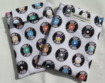 Kindle Paperwhite Case, Kindle Paperwhite Sleeve, Kindle Paperwhite Cover - Kindle Voyage - vinyl disks