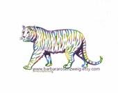 Tiger Art Print, Tiger Painting, Nursery Wall Art Print, Watercolor Tiger Child Room Decor Zoo Animal Art Safari Animal, Tiger Wall Art Gift